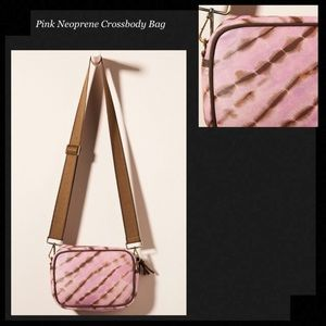 NEOPRENE Pink & Brown Tie Dye Crossbody Bag